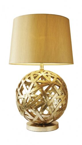 Balthazar Antique Gold finish Table Lamp complete with shade BAL4263 (Class 2 Double Insulated)